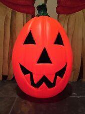 "New 23"" Halloween Jack-O-Lantern Blow Mold Lighted Pumpkin Yard Decoration"