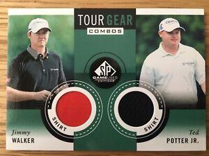 2013 Upper Deck SP Golf Jimmy Walker / Ted Potter Jr Tour Gear Combos Dual Patch