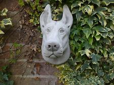 More details for big stone  doberman pinscher  dog head wall hanging garden sculpture