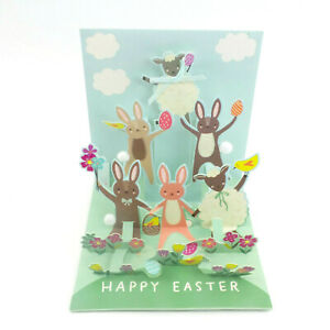 Easter Gathering Greeting Card 3D Pop Up Happy Easter Card by Up With Paper