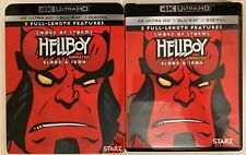 HELLBOY ANIMATED SWORD OF STORMS & BLOOD & IRON 4K ULTRA HD BLU RAY + SLIPCOVER