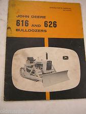 John Deere 616 626 Bulldozers Operator'S Manual Vintage 21 Pages