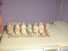 """7 oude soldaatjes in het tin hoog 7 Cm ,zie Foto""""s,"""