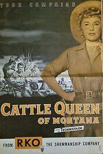 CATTLE QUEEN OF MONTANA (1954) BARBARA STANWYCK & RONALD REAGAN ORIG PRESSBOOK!