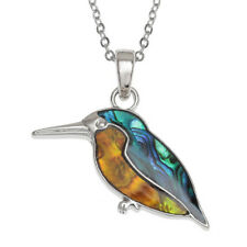 Kingfisher Pendant Necklace in Paua Natural Shell