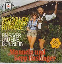"""7"""" Manuela et Sepp Haslinger Qu'est-ce que c'est un Bayer in der Hitparade Air"""