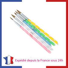 Kit de 5 Pinceaux pour Nail Art et Pose de Gel UV Manucure et Nail Art