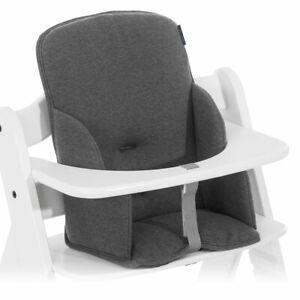 Hauck Sitzverkleinerer Sitzpolster für Alpha und Beta Hochstuhl Jersey Charcoal
