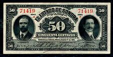 MEXICO  -  FIFTY  CENTAVOS  BANKNOTE