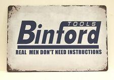 New listing Binford Tools Tin Poster Sign Tim Allen Taylor Hardware Garage Shop Man Cave