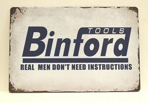 Binford Tools Tin Poster Sign Tim Allen Taylor Hardware Garage Shop Man Cave