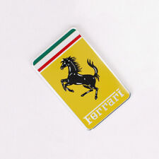 Premium Ferrari Logo Prancing Horse Emblem Metal Car Badge Sticker 80x50mm Y049