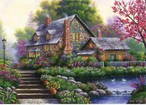 Ravensburger Puzzle 1000 Pieces Jigsaw Puzzle Romantic Cottage
