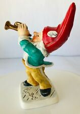 Goebel Co Boy Al the Trumpet Player Merry Gnome Porcelain Germany Story Tag