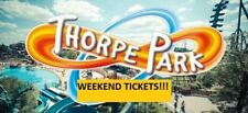 2 THORPE PARK TICKETS - SATURDAY 25TH MAY 2019 100% Rating