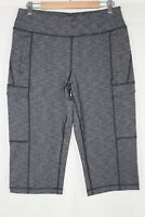 Duluth Women's NoGA Namastash Capris Medium Black Heather 37347
