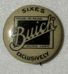 VERY EARLY NOS BUICK CELLULOID ADVERTISING PIN BACK BUTTON #G638