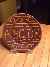 Primitive Style Ceramic Plate Design  Based On  an Early Sampler