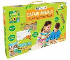 Factivity Safari Animals: 4-In-1 Activity Pack by Parragon Books Ltd (English) H