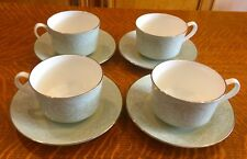 4 ROYAL WORCESTER CHINA MIRAGE PATTERN COFFEE CUPS AND SAUCERS