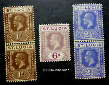 ST.LUCIA VERY FINE MINT NH** KING GEORGE V TO 6 PENCE CANADA SHIP$1.99 US