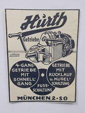 ORIGINAL um 1930 MOTOR & SPORT WERBUNG HURTH GETRIEBE MOTORRAD MÜNCHEN OLDTIMER