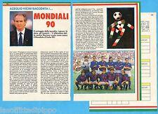 TOP989-RITAGLIO/CLIPPING/NEWS-1989- VICINI RACCONTA I...MONDIALI 90 -3 fogli