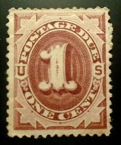 due stamp #J1 mint partial OG VF