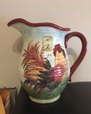 """Certified Int. Corp. """"Le Rooster"""" 120 Oz Pitcher By Susan Winget"""