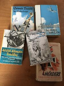 5 original kriegsbücher, Luftwaffe, Flieger, 2. weltkrieg, vor 1945, 2. Wk, Mili