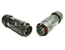 Waterproof Connector LLT-USA M19 IP67 2 Pin Field Assembly Male and Female plug