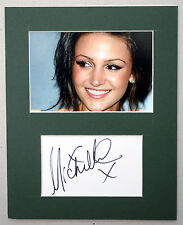 MICHELLE KEEGAN signed index card mount display - Authentic Autograph
