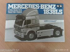 Tamiya 1/14 Mercedes 1838LS RC Truck 56305 Instruction Build Manual 1055629