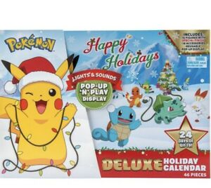 New 2021 Pokemon Happy Holidays Deluxe Holiday Advent Calendar Pop-Up N Play