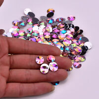 50X AB Pink Round A GRADE sew On Jewel 10MM GEM CRYSTAL RHINESTONE trim Bead  #3