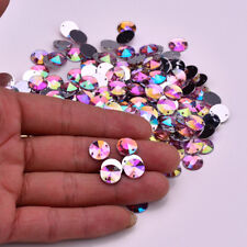 50 X AB Pink Round A GRADE sew On Jewel 10MM GEM CRYSTAL RHINESTONE trim Bead