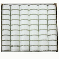 Janome Genuine 108 Pack White Pre-Wound Plastic Bobbins For Sewing Machine