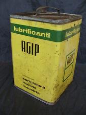 LATTA AGIP OLIO LUBRIFICANTE MARINA AGRICOLTURA SUPERCORTEMAGGIORE OLD ITALY
