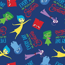 Fat trimestre Disney inside out riche en émotions 100% coton tissu de matelassage