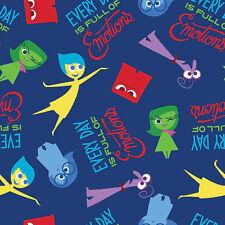 Fat Quarter Disney Del Revés lleno de Emotions 100% algodón acolchada Tela