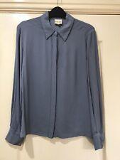 Women's REISS blue long sleeve SHIRT size 10