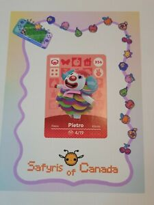 Pietro #356 Animal Crossing Amiibo Card Authentic Never Scanned