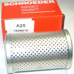 "Up to 6 New A25 Schroeder 25 micron, 3"" Dia x 4.9"" Long Hydraulic Filters"