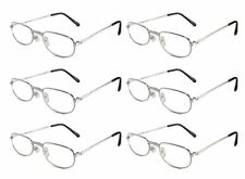 Mr. Reading Glasses [+2.75] 6 Pair All Silver Metal Frame Reader Wholesale 2.75