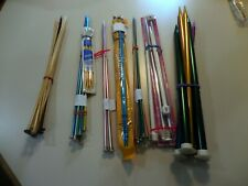 Lot of 52 Vintage Knitting Needles Various Sizes Some plastic. See below