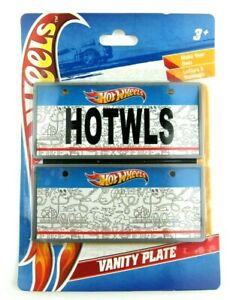 2011 Hot Wheels Customizable Vanity Plate - New In Package - Craft Kit