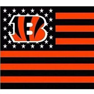 Cincinnati Bengals 3x5 Foot American Flag Banner New