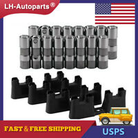 For GM LS7 LS2 16 Performance Hydraulic Roller Lifters & 4 Guides 12499225 HL124