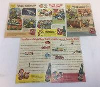 five 1950's 7-UP cartoon ads ~ Sam's Lingo,Fresh Up Freddie,Sno White,Goldilocks