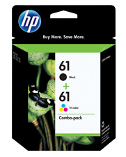 HP 61 Combo 2pack Ink Cartridges BLACK & TRI-COLOR Expiration July 2021 / $59.95